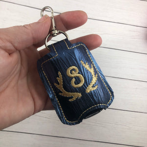 Deer Antlers Monogram Frame Hand Sanitizer Holder Snap Tab In the Hoop Embroidery Project