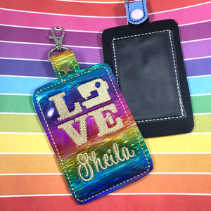 LOVE Sewing Double Sided Luggage Tag Design for 5x7 Hoops