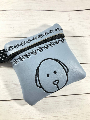 Puppy Dog Face Zipper Pouch 4x4