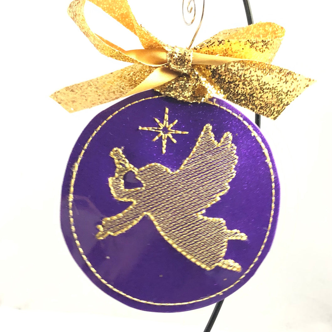 Sketch Angel Christmas Ornament for 4x4 hoops