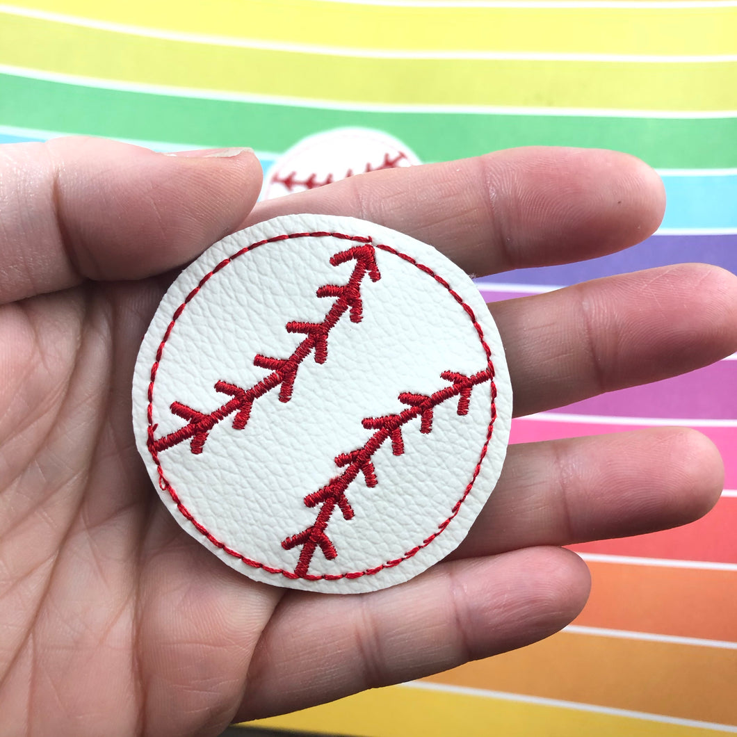 Baseball Feltie In the Hoop embroidery design