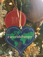 World Changer Ornament for 5x7 hoops