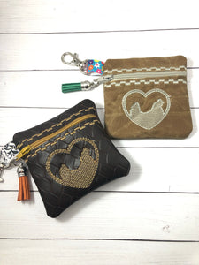 Chicken LOVE Zipper Pouch 4x4