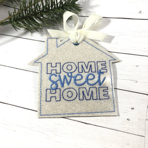 Home Sweet Home Christmas Ornament for 4x4 hoops