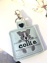 Border Collie Name Tag for 4x4 hoops