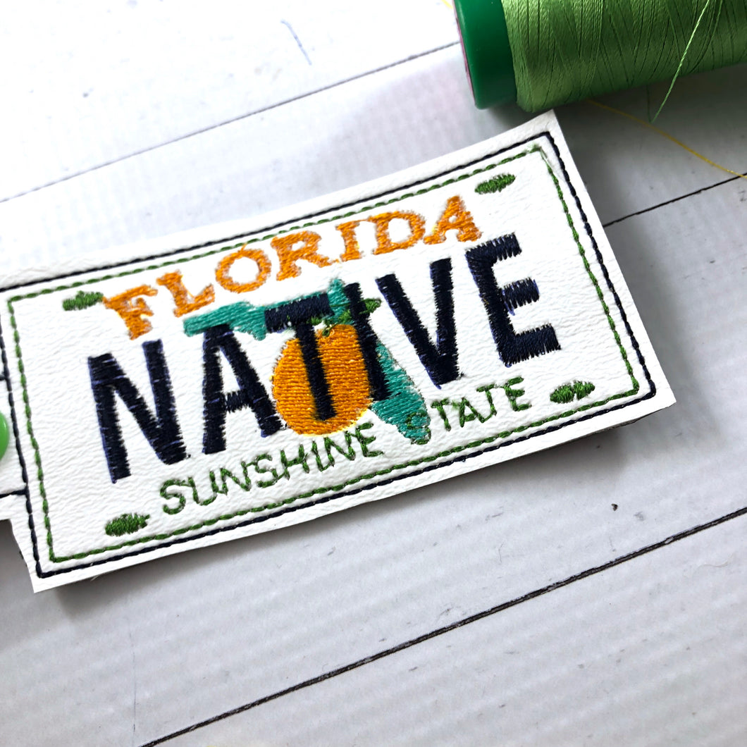 Florida Plate Embroidery Snap Tab