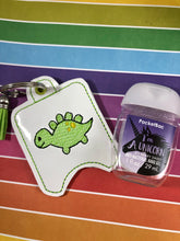 4x4 Baby Stegosaurus Dinosaur Themed Hand Sanitizer Holder EYELET VERSION In the Hoop Embroidery Project