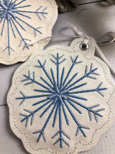 Snowflake Christmas Ornament for 4x4 hoops