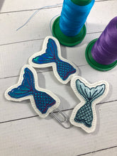 Mermaid Tail Applique Feltie embroidery design