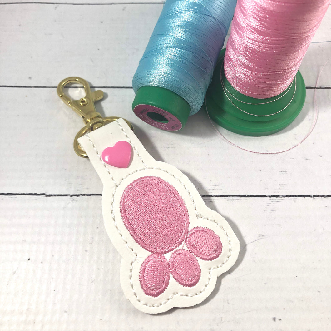 Rabbit Foot Bunny Foot Snap Tab In the Hoop Embroidery Design