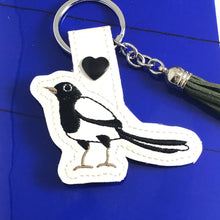 Magpie snap tab In the Hoop embroidery design