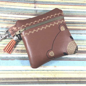 Bear Face Zipper Pouch 4x4