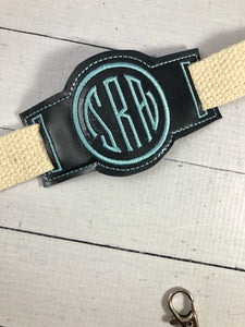 Monogram Sliders for Dog Collars or Bracelets or Bookbands Design