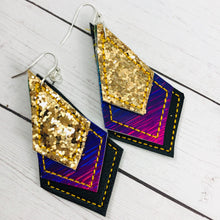 Diamond Drops Earrings embroidery design with bonus SVGs