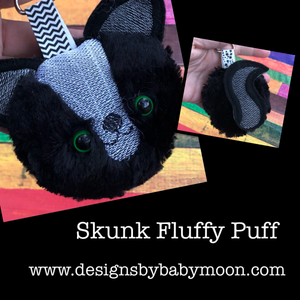 Skunk Fluffy Puff - In the Hoop Embroidery Design