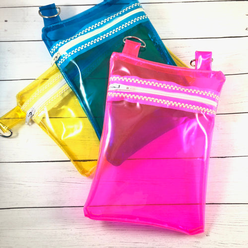 Clear Jelly Bag Zipper Pouch 5x7 and 6x10
