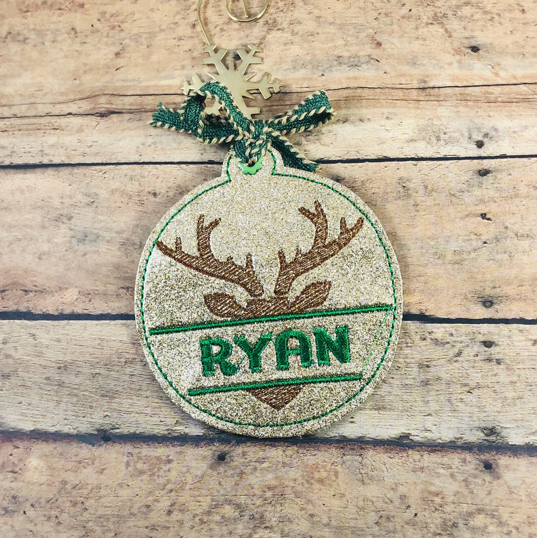 Split Buck Personalized Ornament