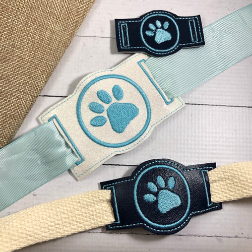 Paw Print Sliders for Dog Collars or Bracelets or Bookbands Design
