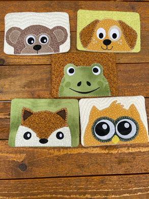 Animal Friends Mug Rug Bundle Set