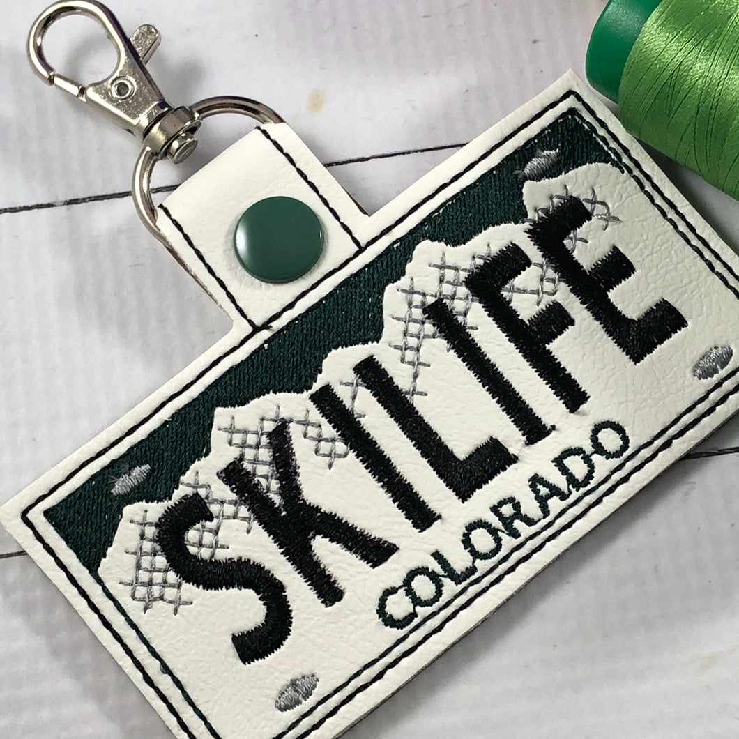 Colorado Plate Embroidery Snap Tab