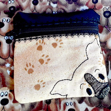 Collie Face Zipper Pouch 4x4