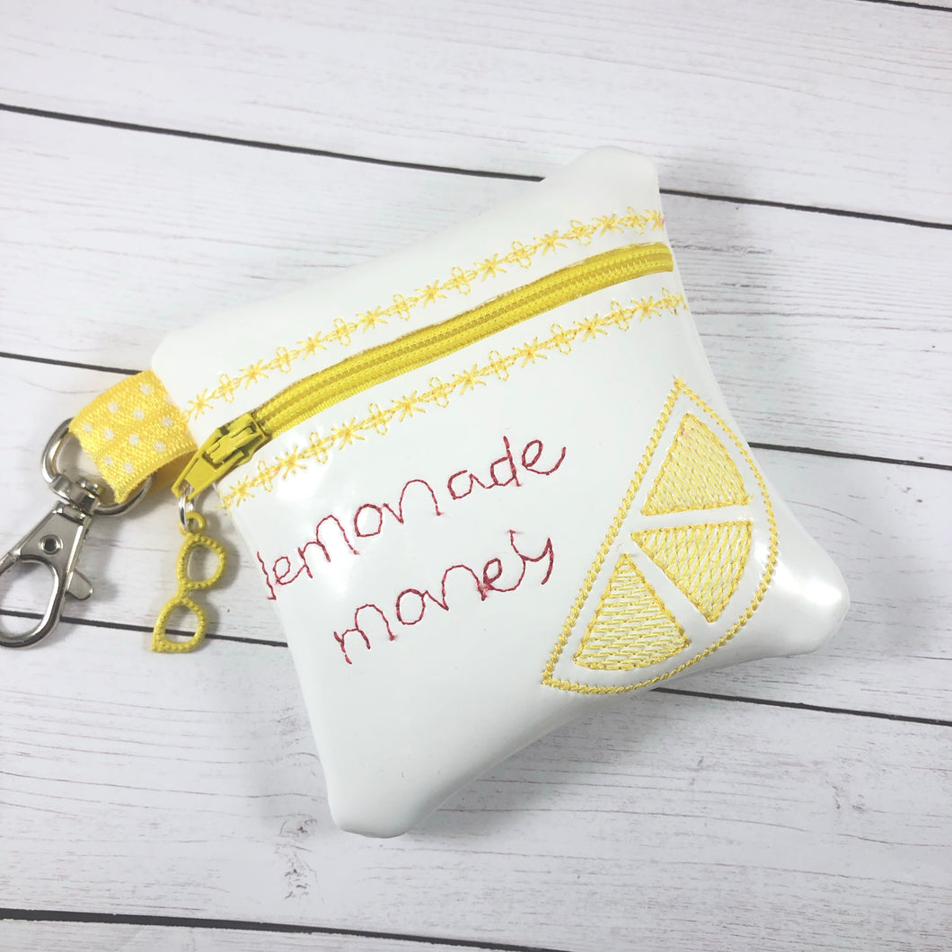 Lemonade Money Zipper Pouch 4x4