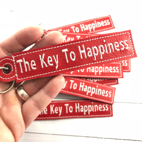The Key to Happiness Eyelet Tags