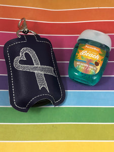 Awareness Ribbon 5x7 Hand Sanitizer Holder Snap Tab In the Hoop Embroidery Project