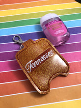 Tennessee Hand Sanitizer Holder Snap Tab Version In the Hoop Embroidery Project 1 oz BBW for 5x7 hoops