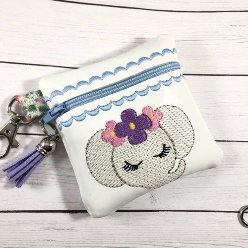 Elephant Zipper Pouch 4x4