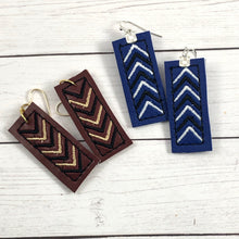 Bar Chevron Earrings embroidery design