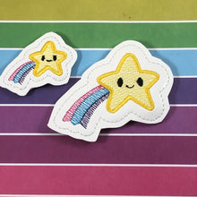 Shooting Star Feltie In the Hoop embroidery design