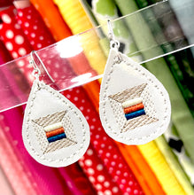 Thread Spool Patchwork Earrings embroidery design