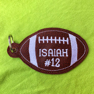 Football Eyelet Tag Ornament/Bag Tag/Bookmark