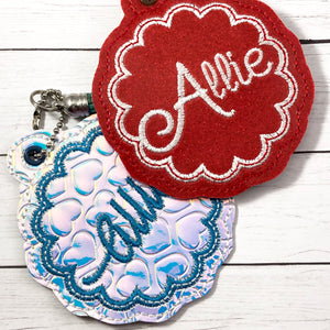 BLANK Scalloped Monogram Eyelet Tag for 4x4 hoops