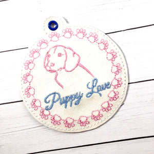 BLANK Paw Print Monogram Frame Ornament for 4x4 hoops