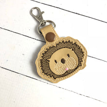 Hedgehog snap tab In the Hoop embroidery design