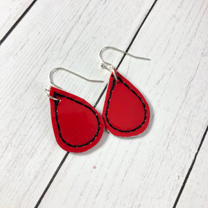 Mini Teardrop Earrings embroidery design