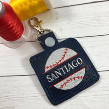 Split Baseball/Softball Personalized Tag for 4x4 hoops
