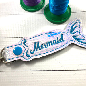 BLANK Mermaid Tail snap tab and eyelet for NAMES