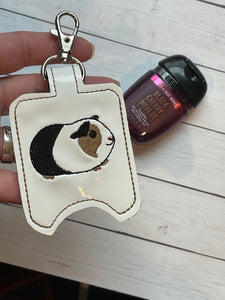 Guinea Pig Hand Sanitizer Holder Snap Tab Version In the Hoop Embroidery Project 1 oz BBW for 5x7 hoops