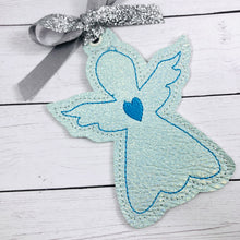 Heart Angel Christmas Ornament for 4x4 hoops