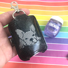 Frenchie French Bulldog Hand Sanitizer Holder Snap Tab In the Hoop Embroidery Project