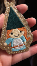 Happy Girl Gnome Christmas Ornament for 4x4 hoops