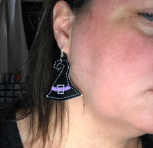 Witch Hat Earrings embroidery design