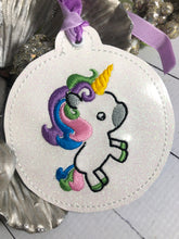 Cute Unicorn Christmas Ornament for 4x4 hoops