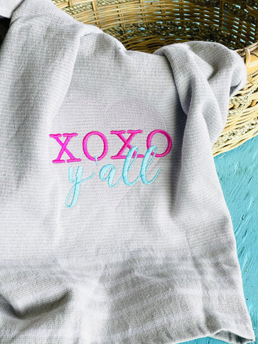 XOXO Yall Embroidery Design