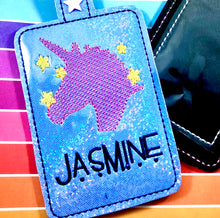 Unicorn and Stars Double Sided Luggage Tag Design for 5x7 Hoops