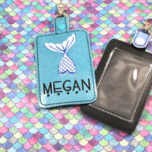 Mermaid Double Sided Luggage Tag Design for 5x7 Hoops
