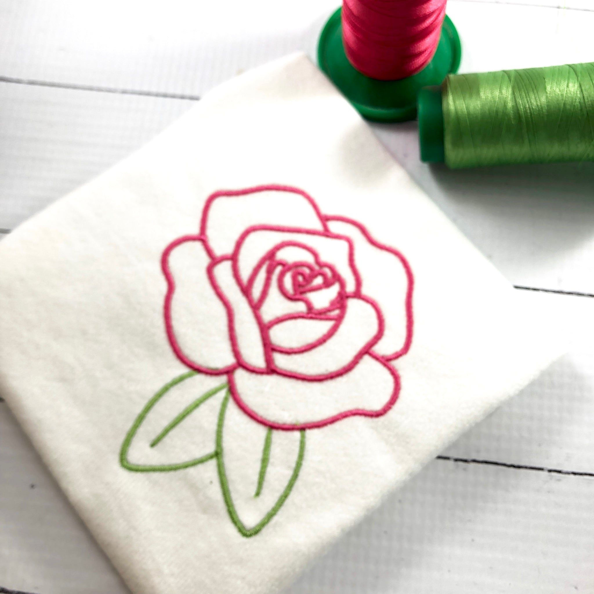 Rose Embroidery Design Designs By Babymoon